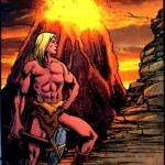 Anthro DC Comic: »It was there that a unique course began. Anthro ushered man out of caves toward enlightenment.«